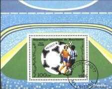 Mauritania Bloque 64 (edición completa) usado 1986 Fútbol-WM ´86, Mexico