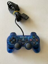 Original Oem Sony PlayStation 2 Ps2 Controller Dualshock Blue (Tested) - A06