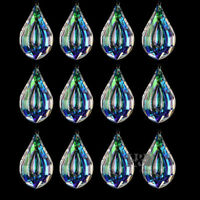 10PCS Rainbow Glass Crystal Chandelier Lamp Part Prism Hanging Drop Pendant 63mm