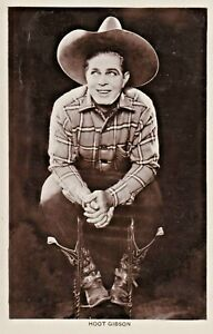 HOOT  GIBSON - hollywood SILENT/talkies WESTERN cowboy STAR  1920s postcard