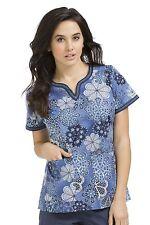 {XS} Women's Peaches Medical Uniform Ella Top Notch Neck (4436APTM)
