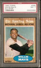 1962 TOPPS WILLIE MAYS ALL STAR #395 PSA NM 7