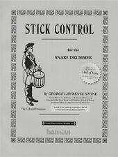 STICK di controllo per il rullante BATTERISTA DRUM MUSICA Esercizio Studio LIBRO George Stone