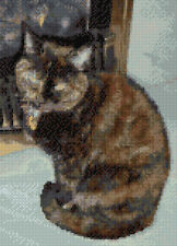 "Tortoiseshell CAT PER CAMINO-CROSS STITCH KIT 8 ""X 11"" - 14 Count, ANCORAGGIO"