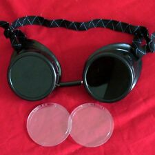 Steampunk Welding Oxy-Acetylene Goggles Eye Cup glasses 50mm lens biker aviator