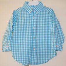NIP ~ Kelly's Kids Scuba Blue/White Check James Shirt ~ Size 18 Month