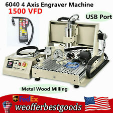 New Listingusb 4axis 1500w Vfd Cnc 6040t Router Metal Engraver Engraving Machinecontroller