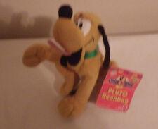 "Mickey for Kids Pluto Beanbag 7"" Plush Stuffed Animal Toy NWT"