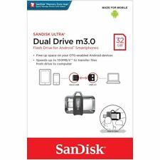 SanDisk® Ultra® Dual Drive m3.0 32GB OTG micro USB3.0 Memory Stick Flash Android