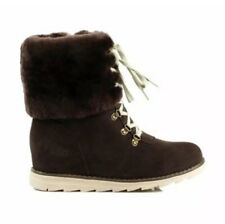 ❤️ UGG Wool 👢 $198 Chocolate Wedge Boots Shoes  39 Or 8 24.5 Cm
