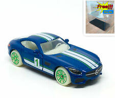 Majorette Mercedes AMG GT Blue Glow in the Dark 1:60 no Package Free Displa Box