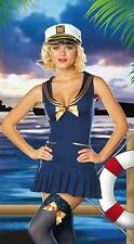 Sexy Ladies Captain Sailor Fancy Costume Dress Hen Night Out or Halloween Party