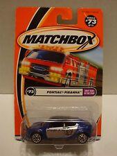 Matchbox Kids' Cars of The Year Pontiac Piranha Purple #73 1:64 Diecast C49-21
