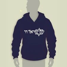 "ISrael ""Am Israel Chai"" Hooded Sweatshirt-M-L-XL-2XL"