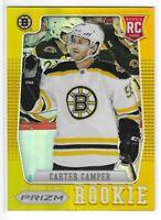 2012-13 ROOKIE ANTHOLOGY CARTER CAMPER GOLD PRIZM RC #54 BOSTON BRUINS 08/10