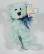 NWT FIESTA PASTEL BABY BLUE TEDDY BEAR PLUSH ORGANZA BOW STUFFED ANIMAL TOY NEW