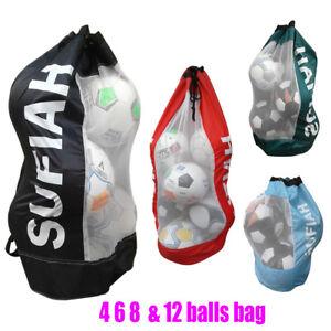 Excellent Quality Football Netball Rugby 12 Balls Drawstring JUMBO Mesh Duty Bag
