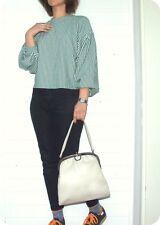 GOLDPFEIL Luxus VINTAGE LEDER Tasche Hand Bag Schultertasche Leather Sac 60er