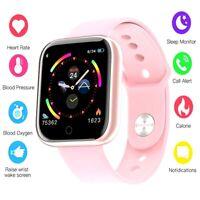 Women Smart Watch Heart Rate Blood Oxygen Pressure Sports Bracelet Fitness Pink
