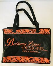Bethany Lowe Designs Inc Halloween Shopping Tote Bag Black Orange Pumpkins Cats