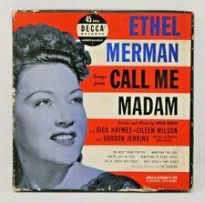 "POP 4-DISC BOX SET ETHEL MERMAN DECCA 9-153  ""CALL ME MADAM"" 45 RPM"