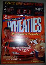 Opened Wheaties Box w/ Diecast Bill Elliot NASCAR 2001 Intrepid -bottom intact