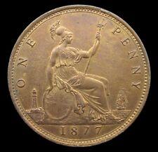 More details for victoria 1877 bronze bun head penny - freeman 91 - gvf