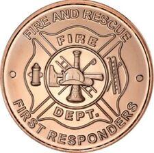1 UNZE 999 KUPFER - USA / Feuerwehr - KUPFERBARREN - MÜNZE - MEDAILLE