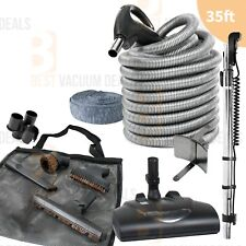 35' ft Central Vacuum Electric Powerhead Vac kit 3-way switched Hose