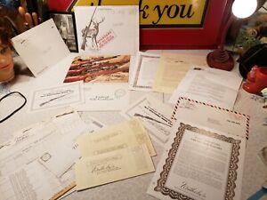 LARGE GROUP OF VINTAGE WEATHERBY PAPER LETTERS, ENVELOPE, CATALOG, GIFT CERT.+