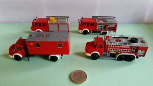 V643 H0 1:87 Preiser 4 Stk Feuerwehr MB Mercedes Berufsfeuerwehr WLA Küche rot