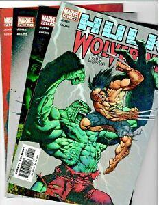 Hulk/Wolverine #'s 1,2,3 & 4 Six Hours Story Line Marvel 2003 in VF+