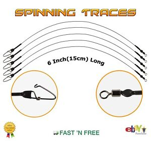 15cm Spinning Wire Traces 6 Inch --- Pike Rig --- Lure Fishing