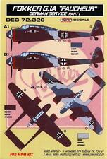 KORA Decals 1/72 FOKKER G.1A FAUCHEUR REAPER in German Service Part 1