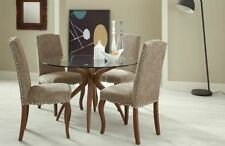 Unbranded Contemporary Glass Piece Table & Chair Sets 5