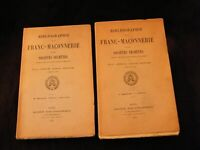 Bibliographie de la Franc Maçonnerie et Sociétés Secrètes Francs Maçons 1912