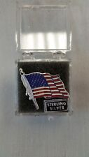 US Flag Sterling Silver Tie Tac
