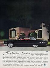 Old Print.  1962 Ford Thunderbird Landau Auto Advertisement