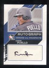 2011 In the Game ITG Heroes & Prospects Close Up Autograph Cesar Puello