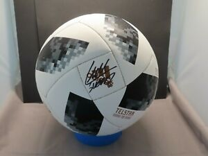 Luis Suarez Signed Adidas 2018 World Cup Soccer Ball Beckett Witnessed COA 1A