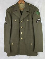 1942 US WWII WOOL SERVICE COAT 4TH INFANTRY PATCH W/ SERVICE #  SZ 37R