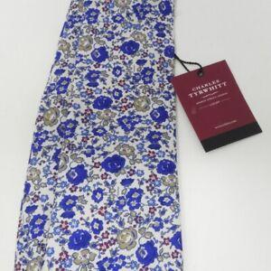 Charles Tyrwhitt Royal Multi Luxury Italian Floral Tie Bnwt