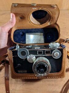 Vintage Argus C3 35MM Rangefinder Camera, W/ Case, Cintar 50mm f/3.5 Untested