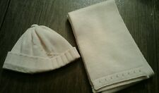 Infant Girl's Peachy Pink Winter Hat & Scarf Set