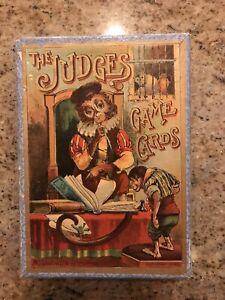 "Antique Rare 1889 McLoughlin Bros  "" THE JUDGES "" Card Game & Box"