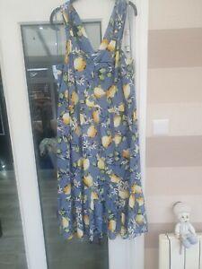 Tu Lemon Print Midi Dress Size 16