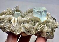 1009 cts Aquamarine Crystal with Baby Aquamarine Crystal Specimen from Pakistan