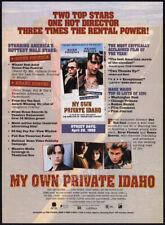 MY OWN PRIVATE IDAHO__Original 1992 Trade AD promo__RIVER PHOENIX__KEANU REEVES