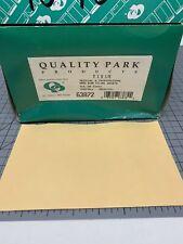 "Quality Park Paper File Jackets 5"" x 8 1/8"" 28 lb Manila Buff 500/Box 63872"