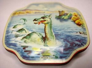 Vintage LOCH NESS MONSTER George W Horner Toffee / Sweets Tin - Nessie Scotland